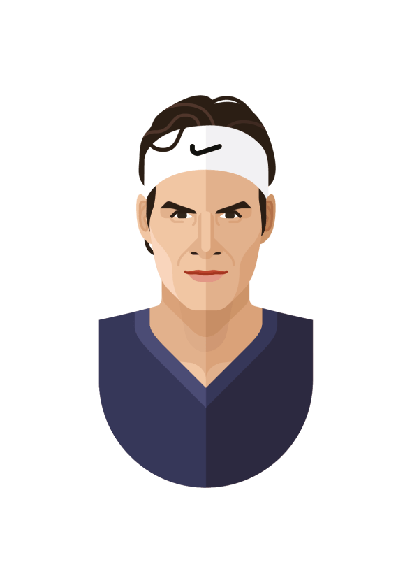 the cool club roger federer poster