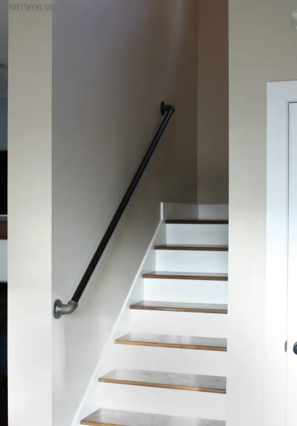 Industrial Decor With Black Iron Pipe Part Iii | Black Pipe Stair Railing | Industrial Farmhouse | Iron Pipe | Banister | Diy | Wrought Iron