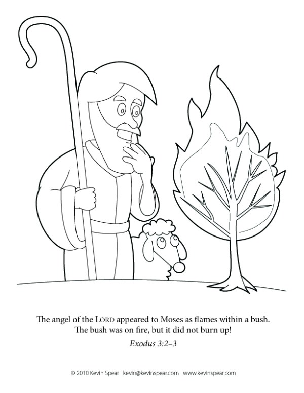 burning bush coloring page # 5