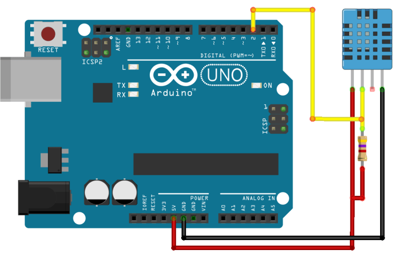 DHT11/DHT22 Sensor With Arduino