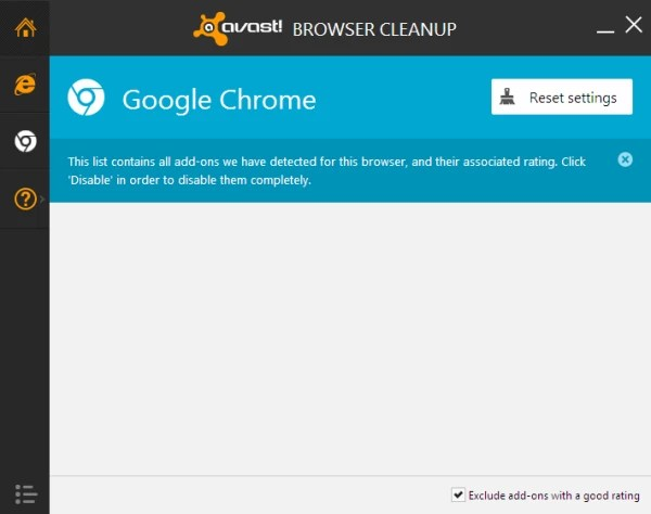 Browser clearing avast.