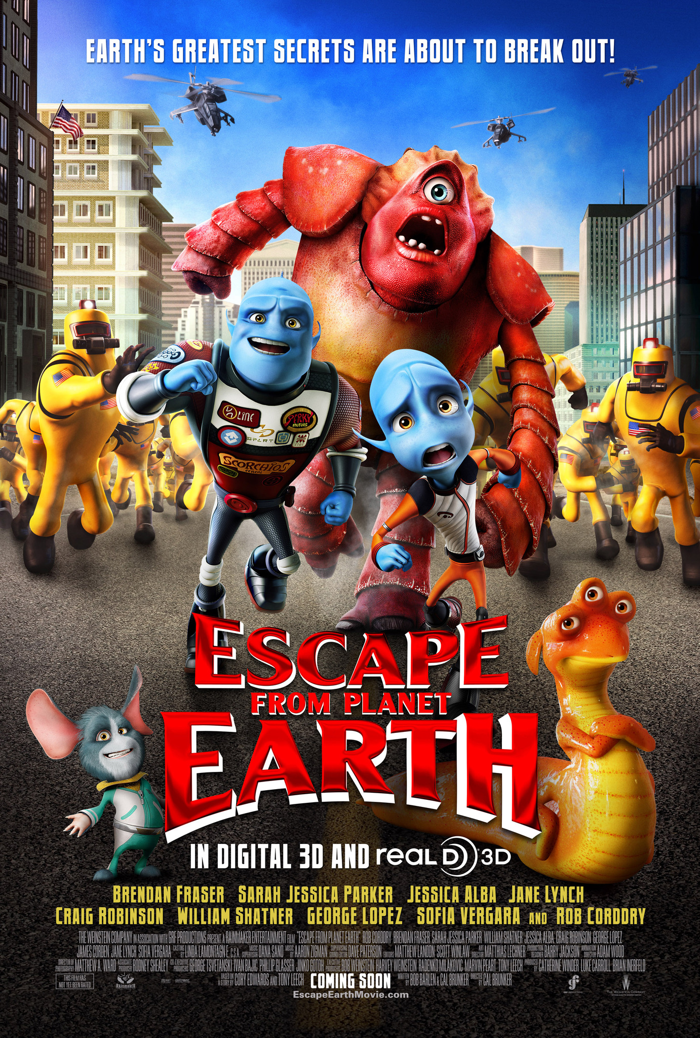 Escape from Planet Earth Poster HeyUGuys