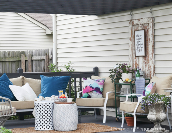 11 Budget Friendly Patio Makeovers | The Inspired Hive on Patio Makeovers On A Budget id=24255