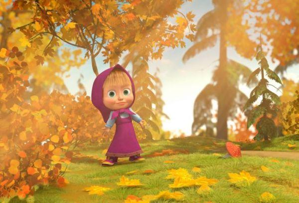Картинка Маша одна в лесу из мультфильма Маша и Медведь