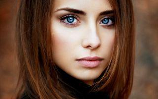 Картинка лицо девушки, черно-белое фото скачать на рабочий ...