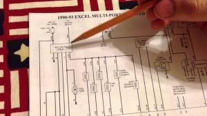 91 Hyundai Excel Engine wiring schematic  YouTube