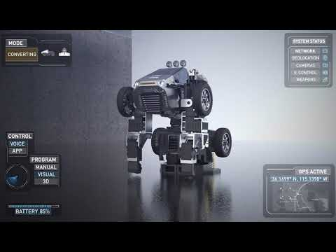 T9 - World's Most Advanced and Programmable Robot. T9 Is both vehicle and robot, transmuting instantly through voice or app control. Three intuitive and easy programming platforms make coding fun with T9's advanced robotics and artificial intelligence.