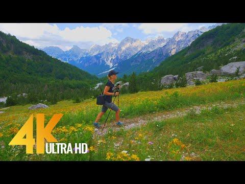 4K Virtual Hike through Scenic Tirana Area with Real Sound - Valbona to Theth Trail, Albania