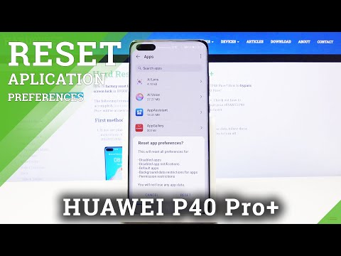 How to Reset App Preferences in HUAWEI P40 PRO+ - Restore App Settings