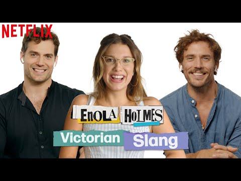 Millie Bobby Brown, Henry Cavill, + Sam Claflin Guess Victorian Slang | Enola Holmes | Netflix