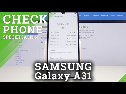 How to Open Phone Specifications of Samsung Galaxy A31 – Find Localization of Phone Specs