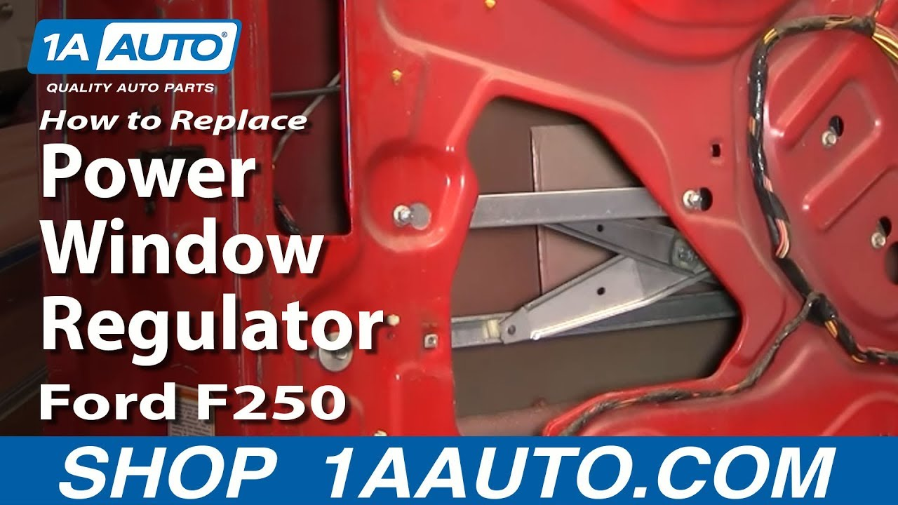 How To Install Replace Power Window Regulator 99 07 Ford