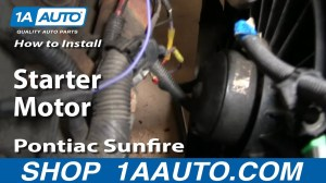 How To Install Replace Change Starter Motor Chevy Cavalier Pontiac Sunfire 9505 1AAuto