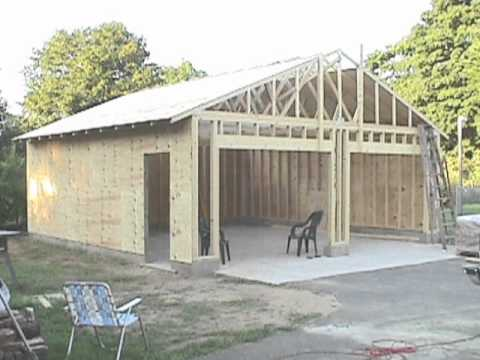 Building Your Own 24X24 Garage And Save Money Steps