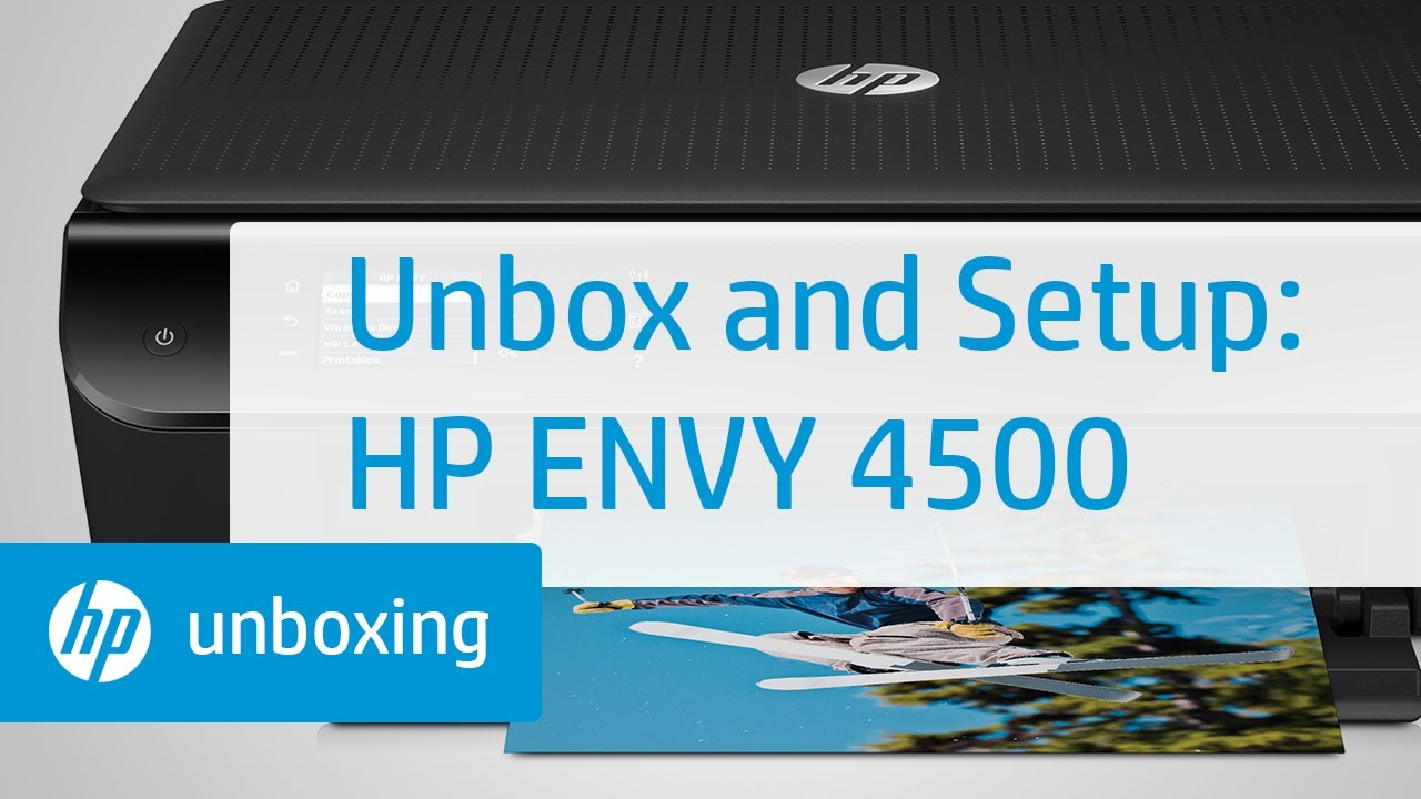 Unboxing And Setting Up The Hp Envy 4500 E All In One