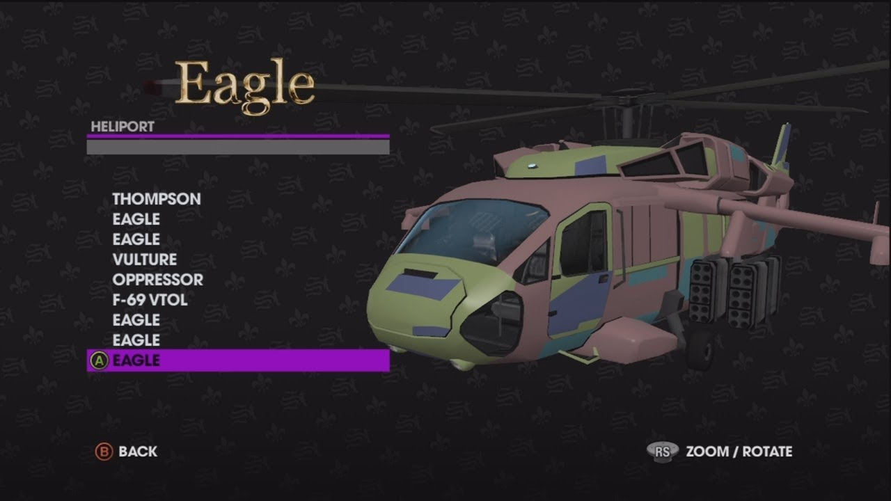 Saints Row 3 Mystery Customizing Helicopters And Planes YouTube
