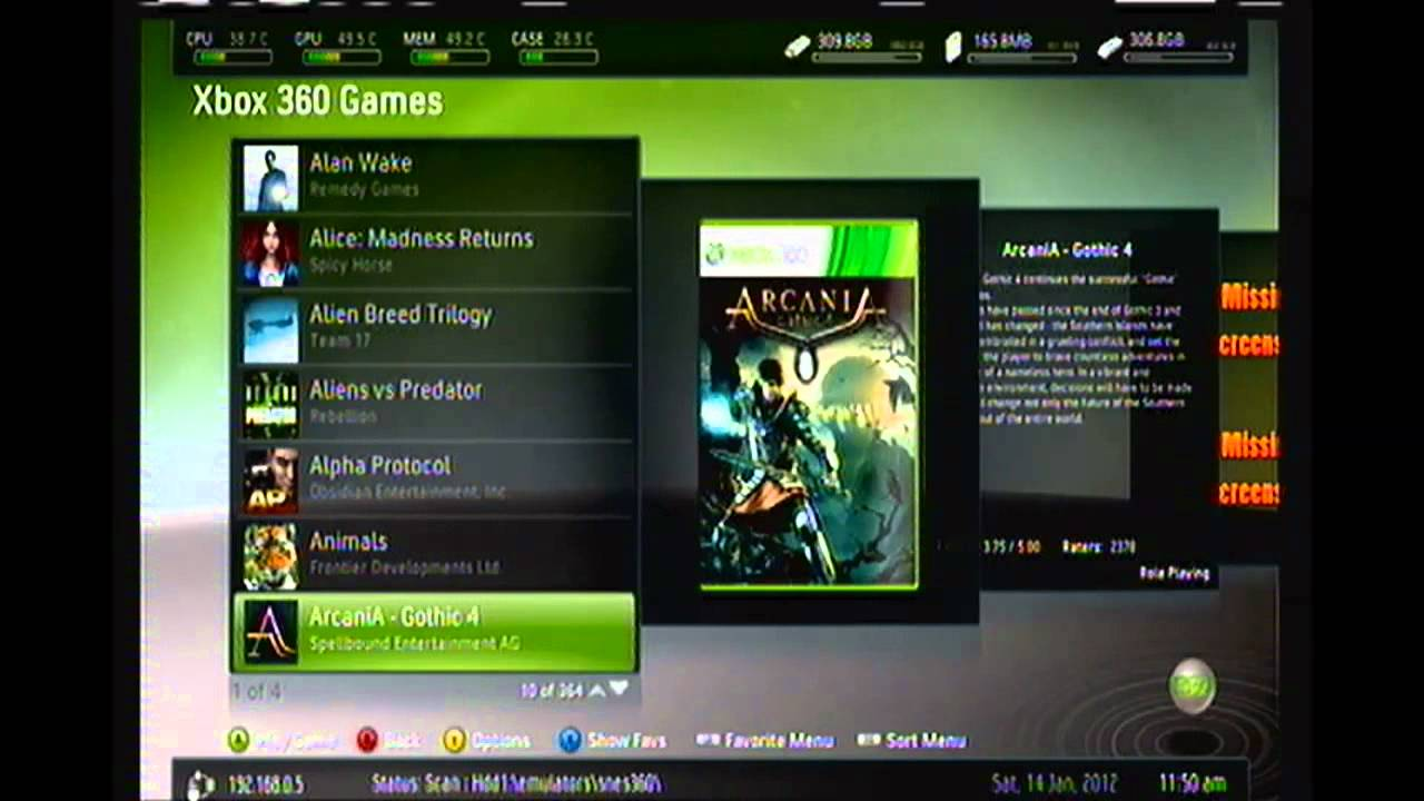 Complete JtagRGH Xbox 360 With 2TB Of My Extracted Games