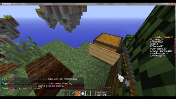 Minecraft Sky Wars- Woodycraft Server - YouTube