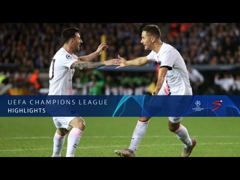 UEFA Champions League   Brugge v PSG   Highlights