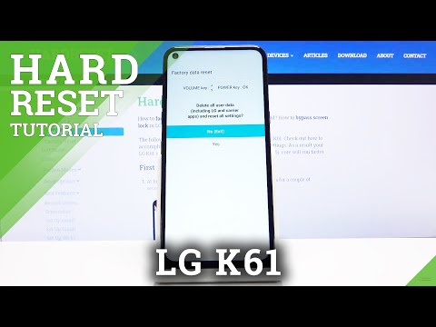 How to Hard Reset LG K61 by Recovery Mode - Factory Reset / Remove Screen Lock