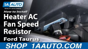 How To Install Replace Heater AC Fan Speed Resistor Ford