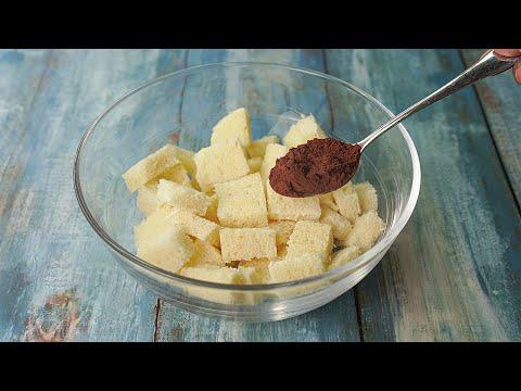 Mixed Cocoa Powder With Bread,  it Tastes Delicious ! Chocolate Bread Dessert Recipe   Yummy