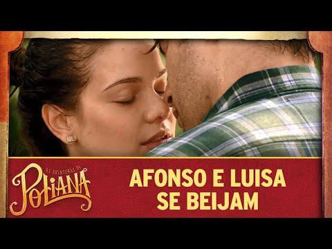Luisa e Afonso se beijam | As Aventuras de Poliana