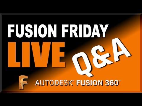 Fusion Friday LIVE: Fusion 360 Q&A   FutureLab3D
