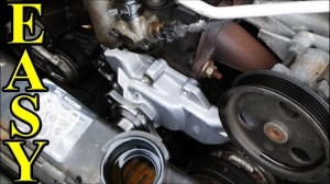How to Change a Waterpump in a Jeep  YouTube