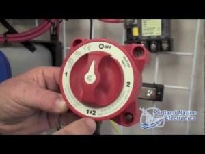 Blue Sea System Battery Switch ACR  Portland Marine Electronics  YouTube