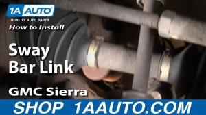 How To Install Replace Stabilizer Bar Link Chevy Silverado