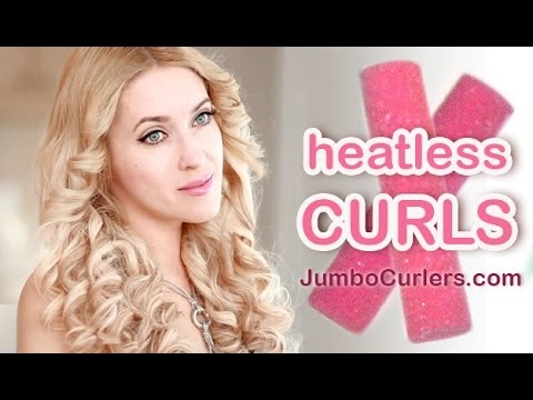 overnight curls without heat tutorial youtube