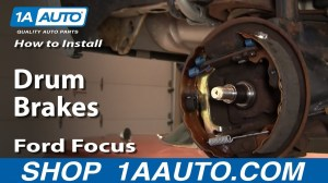 How To Install Replace Rear Drum Brakes Ford Focus 0011 1AAuto  YouTube