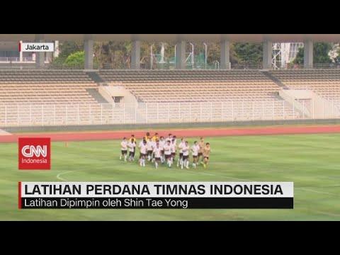 Latihan Perdana Timnas Indonesia di Masa Pandemi