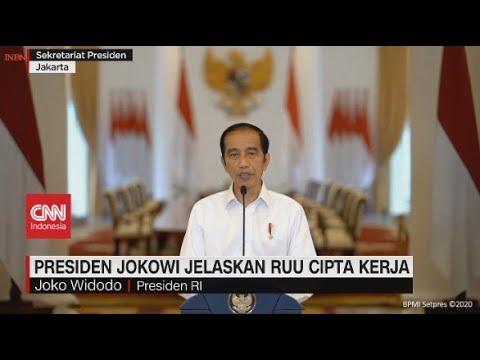 Pernyataan Lengkap Jokowi Jawab Kritik Omnibus Law Ciptaker