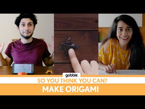 Gobble   So You Think You Can   Make Origami