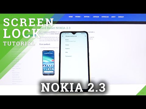 How to Set up Screen Lock on Nokia 2.3 - Lock Screen Method