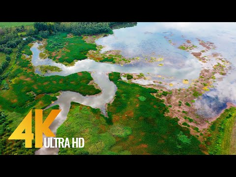 Down the River - Amazing Nature of URAL - 4K Relaxation Video (Nature Sounds + Calm Music) 4 HRS