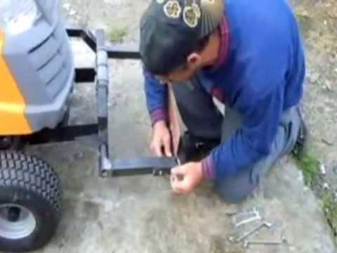 Modification Dun Tracteur Tondeuse En Rateau Motoris