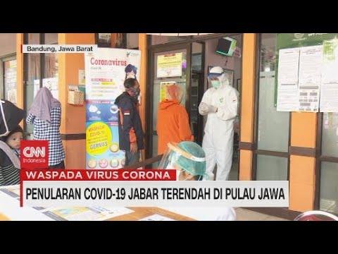 Penularan Covid-19 Jabar Terendah di Pulau Jawa