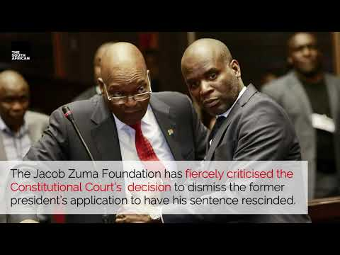 WATCH | JZF lashes out after ConCourt dismisses Zuma's application to rescind his sentence