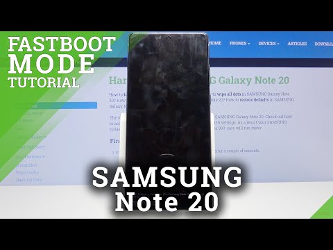 How to Open Fastboot Mode in SAMSUNG Galaxy Note 20 – Activate Fastboot Mode