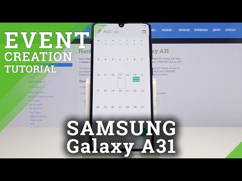 How to Add Event to Calendar in SAMSUNG Galaxy A31 – Customize Calendar Notifications