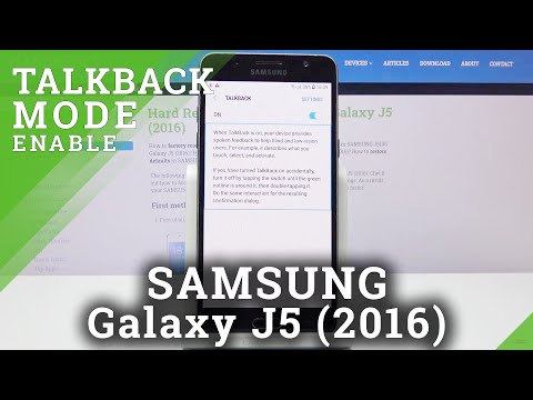 How to Activate TalkBack in SAMSUNG GALAXY J5 (2016) - TalkBack Mode