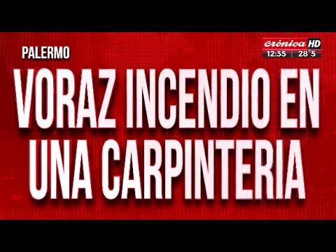 Se incendió una carpintería en Palermo: Hay siete heridos