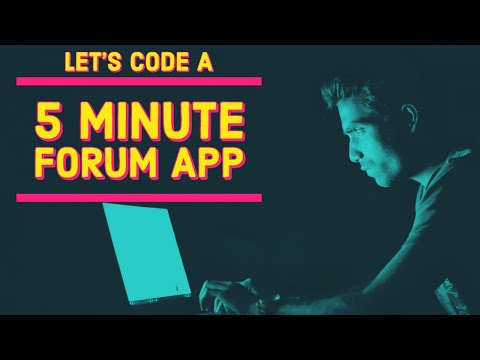 Let's code a Forum App in 5 minutes - HTML, CSS, JavaScript tutorial