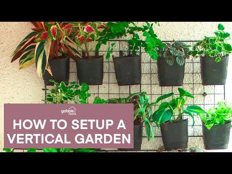 Gobble | How To Make A Vertical Garden At Home | Low Cost Garden | Vertical Gardening