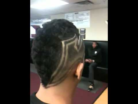 taper fade design short hairstyle 2013