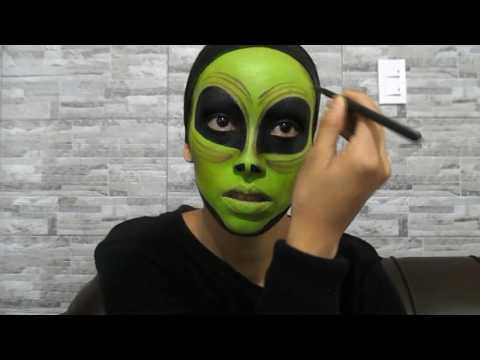 Martian Makeup Tutorial Alien Face Paint Moviles Com