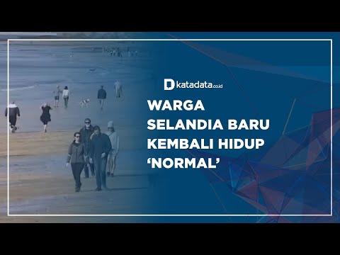 Warga Selandia Baru Kembali Hidup 'Normal' | Katadata Indonesia
